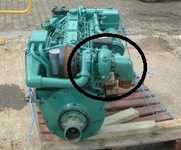 här hittar du turbon på volvo penta motorn